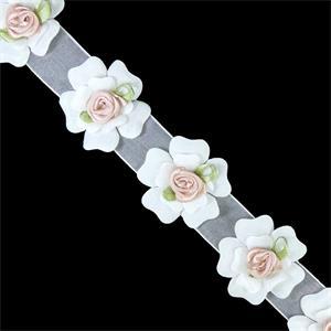 0cd9d0d0764 Flores de tela para vestidos y tocados - Merceria Botton