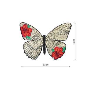 Parche bordado mariposa serpi