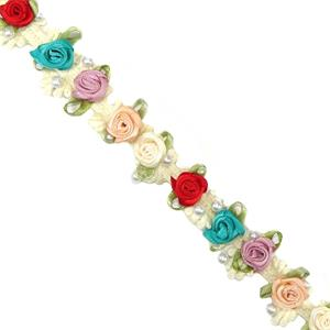 Galon flores multicolor raso