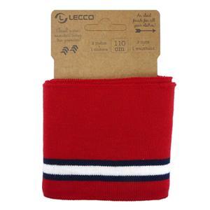 Punto elastic.110cm.rojo+bco.