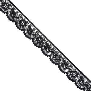 Puntilla nylon negro