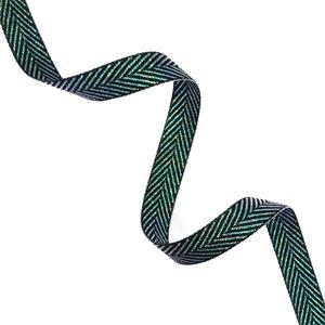Cinta espiga lurex 15mm.verde