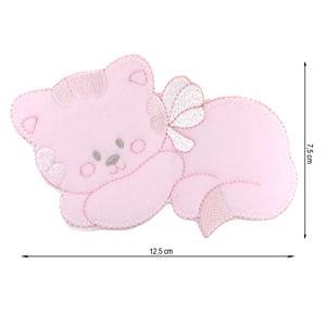 Parche gato lazo rosa