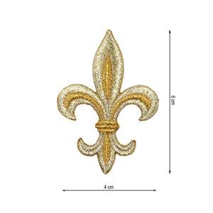 Aplic.flor de lis 4x6 oro