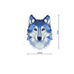 Parche bordado lobo cubista