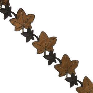Tira flores termo hojas marron