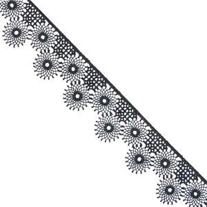 Puntilla guipur flor 3cm.negro