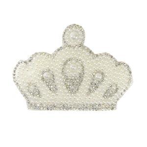 Aplicacion strass+perla corona
