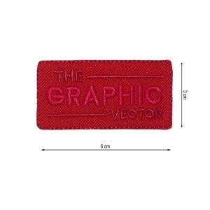 Parche termo graphic rojo