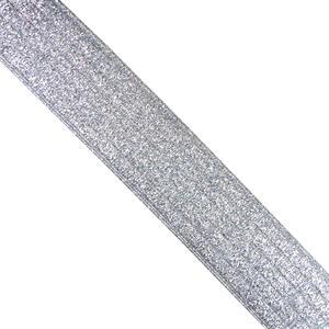 Cinta elastica rayas 4cm.plata