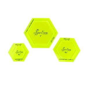 Set 3 plantillas hexagonales p