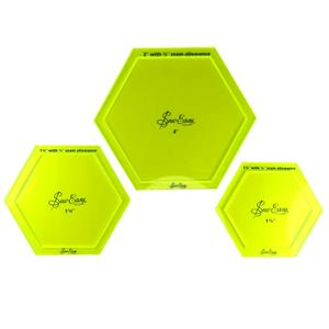 Set 3 plantillas hexagonal g