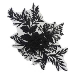 Aplicacion ramo flor negro