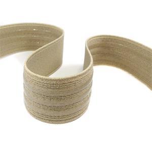 Goma elast.silicona beig 25mm.
