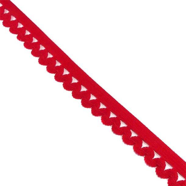 Puntilla elast.ondas 12mm.rojo