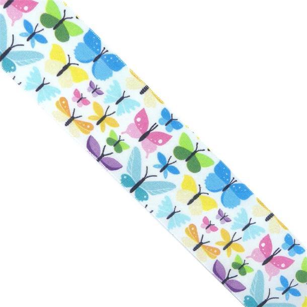 Cinta tafetan mariposas t/12