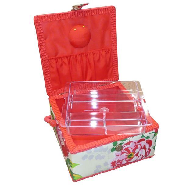 Cinta nylon margaritas rojo