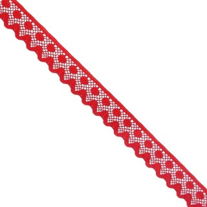 Puntilla nylon feston rojo