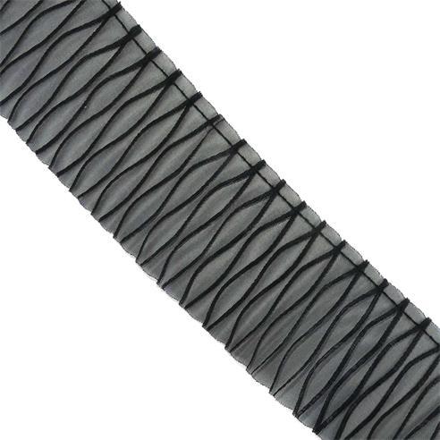 Plisado ochos gasa 6cm.negro