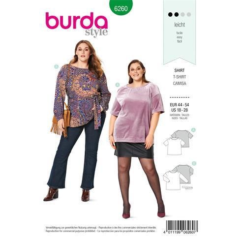 Patron Para Camiseta Y Blusa Tallas Grandes 6260