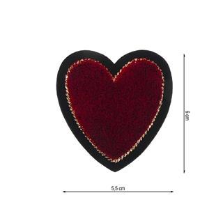 Parche termo corazon ter.rojo