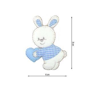 Parche bordado conejo cora.8cm