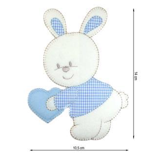 Parche bordado conejo cora.14c