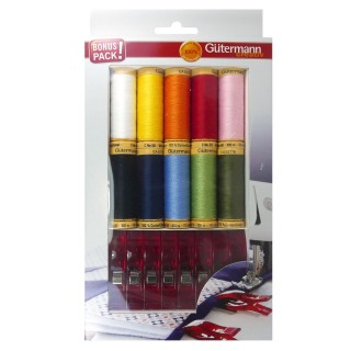 Kit hilos gutermann+clips