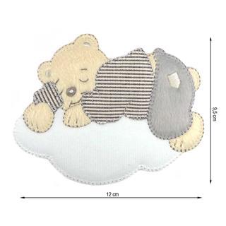 Parche bordado oso nube 12cm.