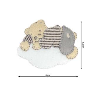 Parche bordado oso nube 8cm.