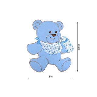 Parche bordado oso biberon 5cm