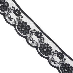Puntilla nylon negro 5cm.
