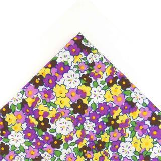 Tela popelin flores 50x45cm.