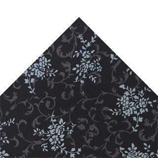 Tela popelin hojas negro 50x45