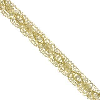 Puntilla bolillo metalizad.oro