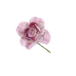 Flor guipur+gasa+perla maquill