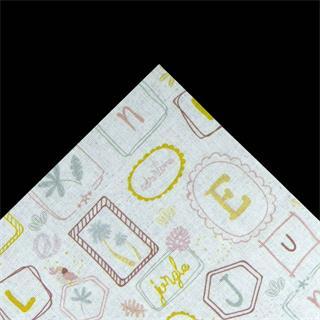 Tela popelin letras 50x45