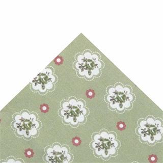Tela popelin flor verde 50x45