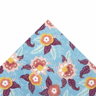 Tela popelin flor turqu.50x45