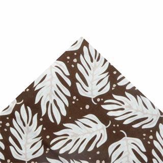 Tela popelin hojas mrrn.50x45