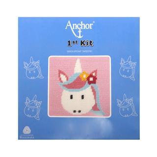 Kit medio punto 15x15 unicorni