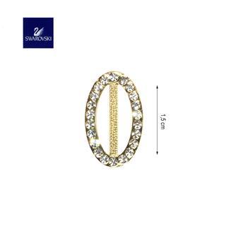 Hebilla ovala.15mm.oro strass