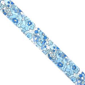 Cinta floral azules 25 mm.