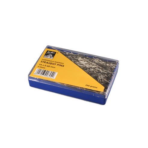 Caja alfileres 250g.34x0.60mm.