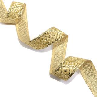 Galon metal cenefa traba oro