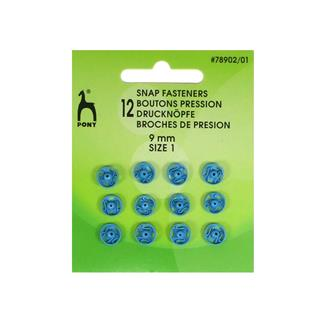 Broches presion 9mm.azul 12uni