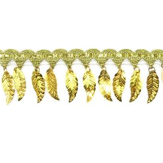 Fleco dorado hojas