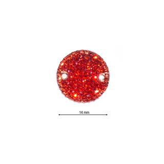 Piedra ice redondo 14 rojo