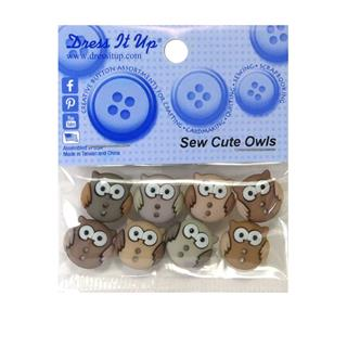 Kit botones 8uni.sew cute owls
