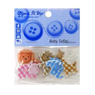 Kit botones 5uni.baby safari